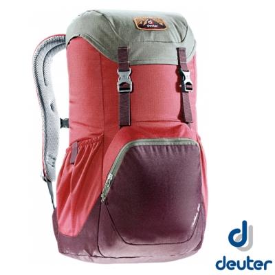 【德國 Deuter】WALKER 20 輕量透氣旅遊背包20L_紅/紫紅