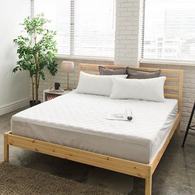 美夢元素 繽紛馬卡龍保潔床墊-加大〈百合白〉