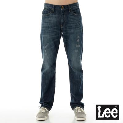 Lee 牛仔褲 735 中腰舒適小直筒-男款藍
