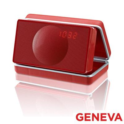 Geneva 攜帶式鬧鐘收音機(Model XS-鋼烤紅)