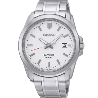 SEIKO CS簡約質感時尚腕錶(SGEH45P1)-白/41mm