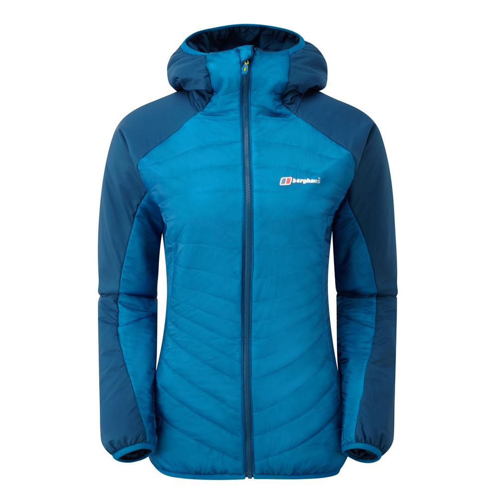 【Berghaus 貝豪斯】女款溫度調節高科技棉雙面穿外套H22FR9藍