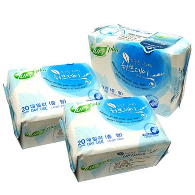 【UFT】韓國草本假期衛生棉-舒適日用3包