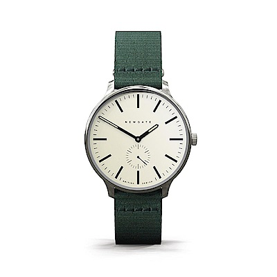Newgate-BLIP-經典小秒針-森林綠-帆布錶帶-40mm