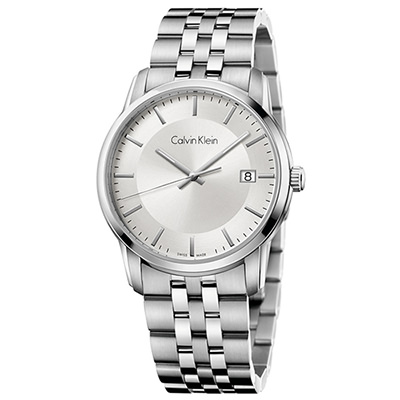 Calvin Klein 無垠系列時尚典藏石英男錶(K5S31146)-銀色/42mm