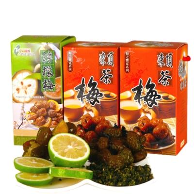 幸福流域  凍頂茶梅1200g+檸檬梅600g(3入)