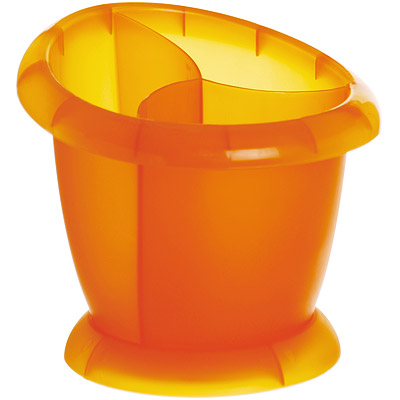 EXCELSA 三格餐具瀝水筒(橘)