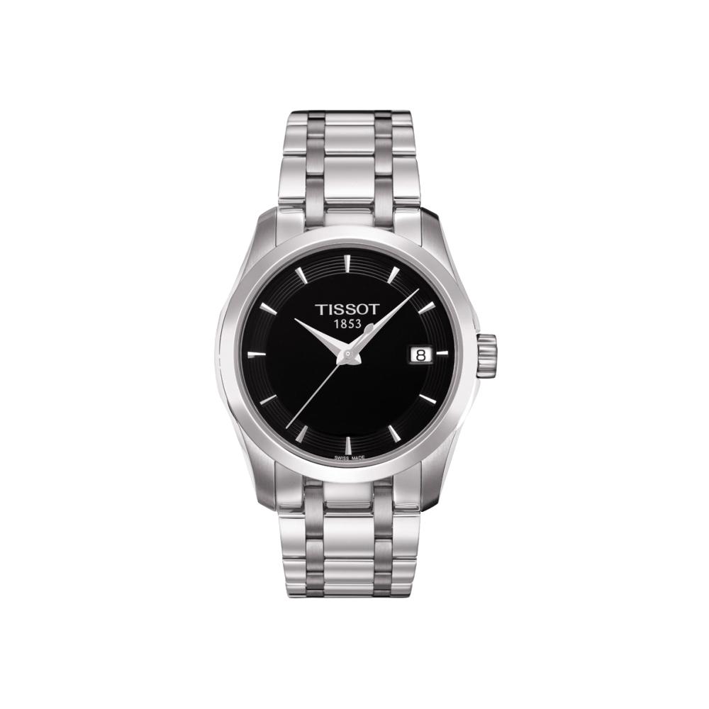 TISSOT T-Trend Couturier Lady 時尚簡約腕錶-黑/32mm