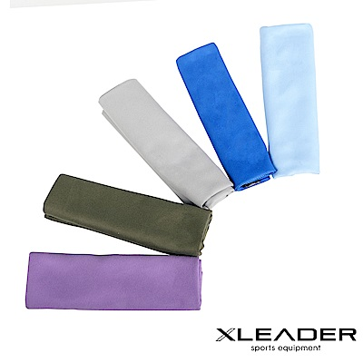 Leader X 超細纖維 吸水速乾運動毛巾  2入組