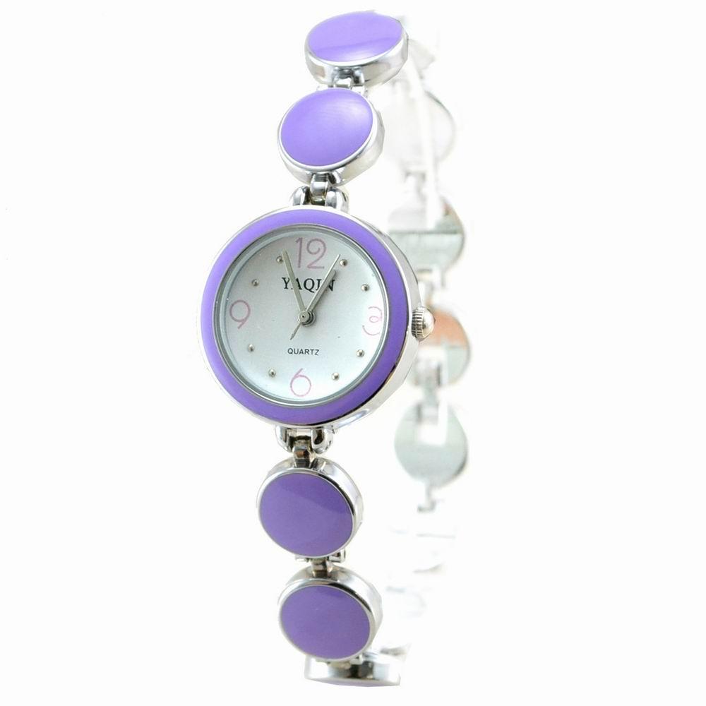 Mirabelle 幾合圓形*彩釉圈圈鍊錶-紫/25mm