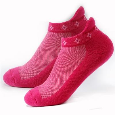 TiNyHouSe 舒適襪系列 厚底款 厚耳船襪 桃紅色M號2入