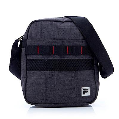 FILA 小型直式單層斜肩包-灰 BMS-1202-GY