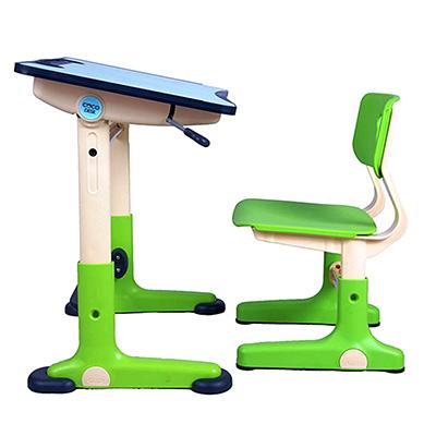 HanU兒童健康可調整全成長書桌椅-綠色 (簡易DIY)