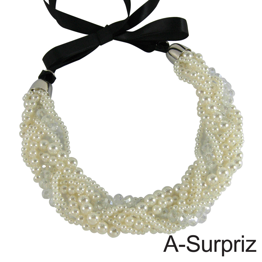 【A-Surpriz】甜心公主多層旋轉珍珠項鍊
