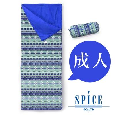 【SPICE】信封式 成人印花 防水 可拼接 睡袋 -  原住民圖騰