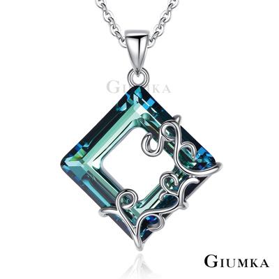 GIUMKA白K飾 綺麗世界情侶水晶項鍊-共4款