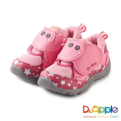 Dr. Apple 機能童鞋 噴水大象飛越星空閃亮亮童鞋款 粉
