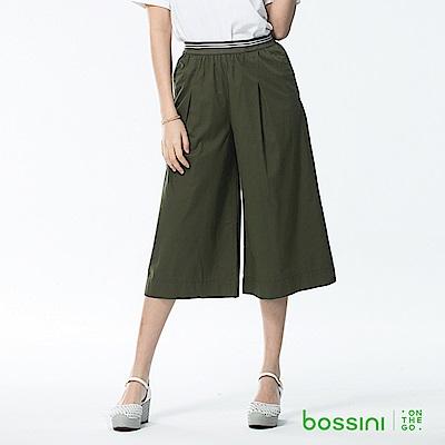 bossini女裝-素色七分寬褲03軍綠