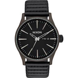 NIXON SENTRY LEATHER 冷冽爵士時尚腕錶-A1052138/42mm