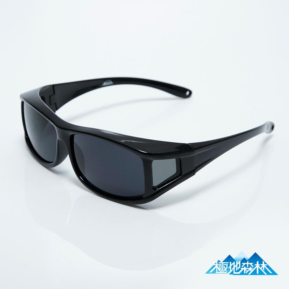 極地森林 超深灰色防爆PC運動太陽眼鏡近視可用_灰4鏡片(7713)