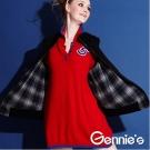 【Gennie's奇妮】NO.5休閒舒適羊毛秋冬孕婦長版上衣(GSY04)