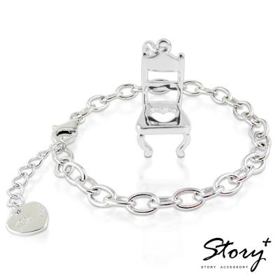 STORY故事銀飾-個人取向 宴會椅 手鍊款