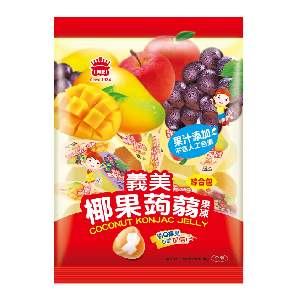 義美 椰果蒟蒻果凍-綜合(848g)