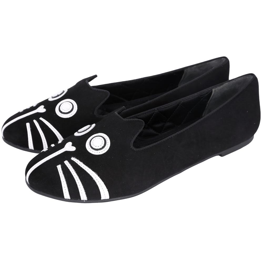 MBMJ Rue Slip-On Loafer 動物拼貼麂皮樂褔鞋(黑色)