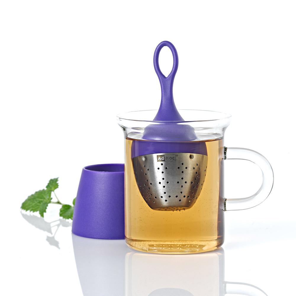 德國AdHoc 漂浮濾茶器(紫)