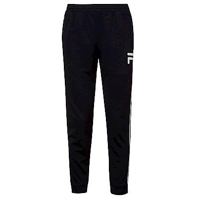 FILA 男吸濕排汗束口長褲-黑1PNS-1429-BK