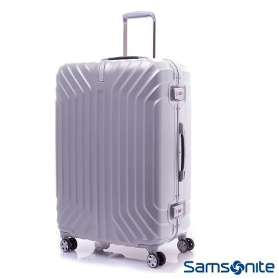 Samsonite新秀麗 25吋TruFrame PC時尚硬殼鋁框行李箱(炫銀)