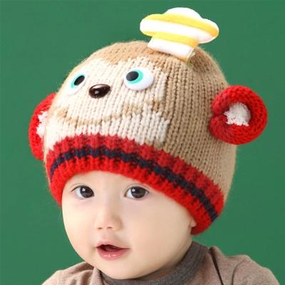 韓版-小猴子廚師保暖帽