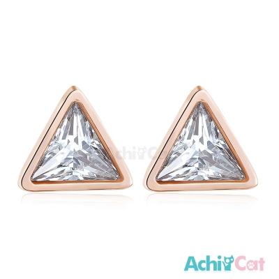 AchiCat 白鋼耳環耳針式 三角世界