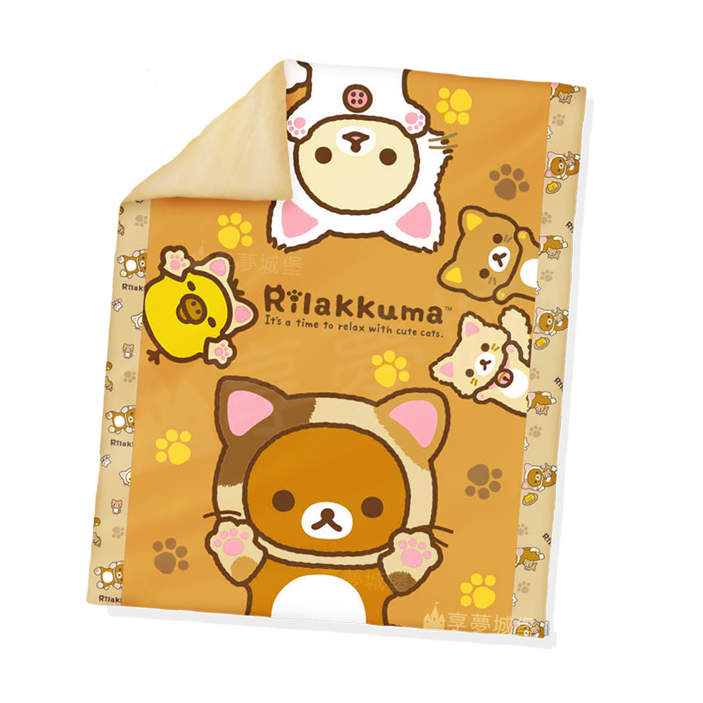 享夢城堡 單人四季涼被4X5-拉拉熊 可愛變身貓(棕)