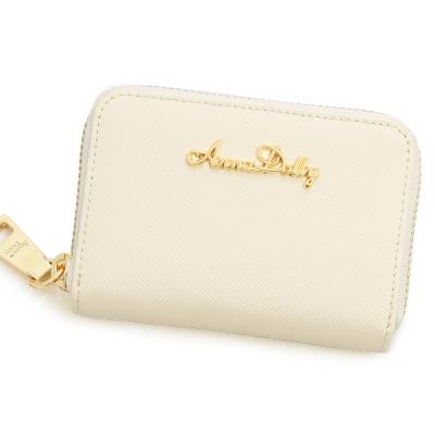 ANNA DOLLY 防刮牛皮零錢夾 Leather系列 愛戀白