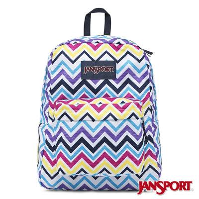 JanSport -SUPERBREAK系列校園後背包 -俏皮山形紋