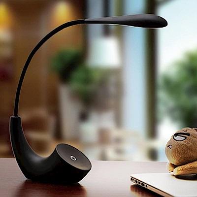 iSFun星月之光 可彎曲USB充電調節桌燈檯燈 黑