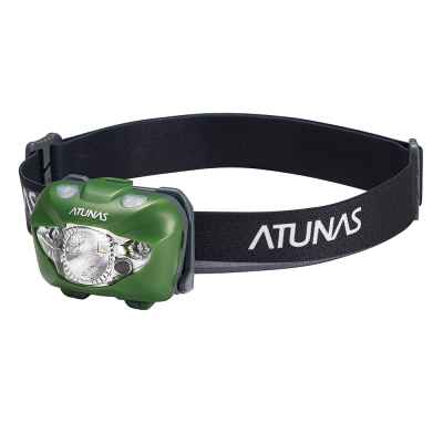 【ATUNAS 歐都納】耐用輕巧感應式頭燈(健行/釣魚/工程 A-L1703 亮綠)