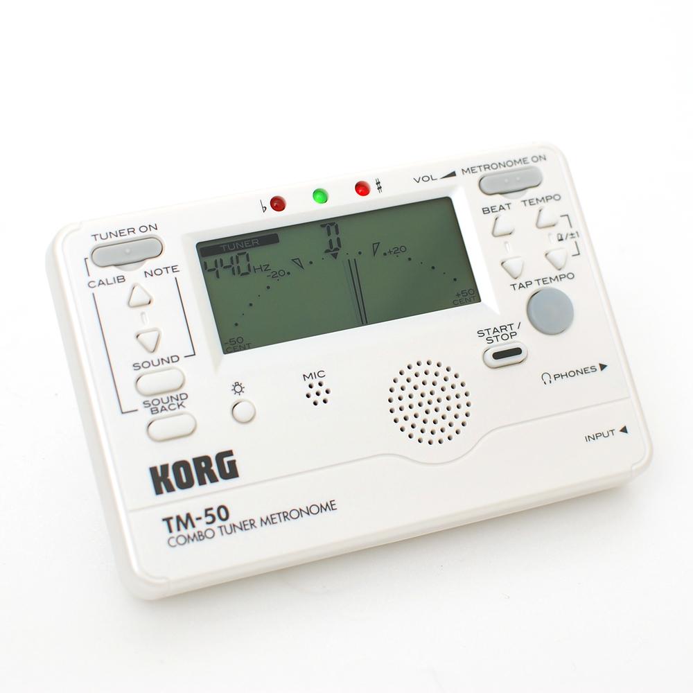 KORG TM-50 全功能冷光調音/節拍器(白色)