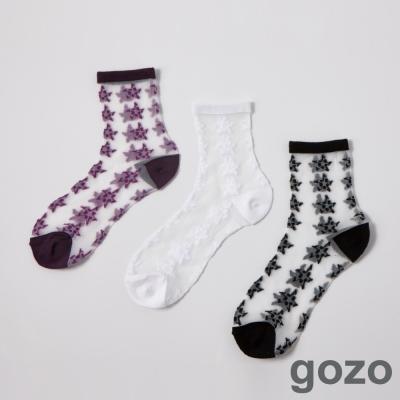 gozo 搖滾星星透明果凍襪(三色)