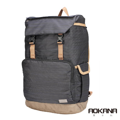 AOKANA奧卡納 輕量防潑水護脊電腦商務後背包(多色任選)68-092