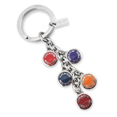 COACH-彩色圓釦鑰匙圈