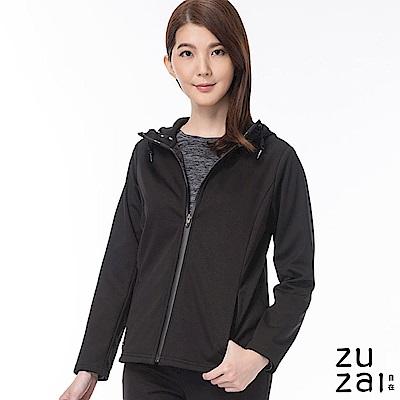 zuzai 自在卓絕連帽短版防水保暖外套-女-黑色