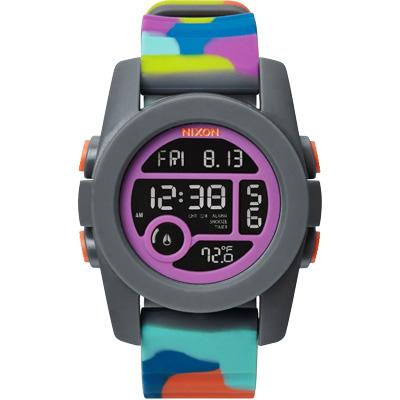 NIXON The UNIT 40 概念革命雙時區運動腕錶-多色錶帶/40mm