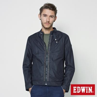 EDWIN 短版風衣外套-男-黑色