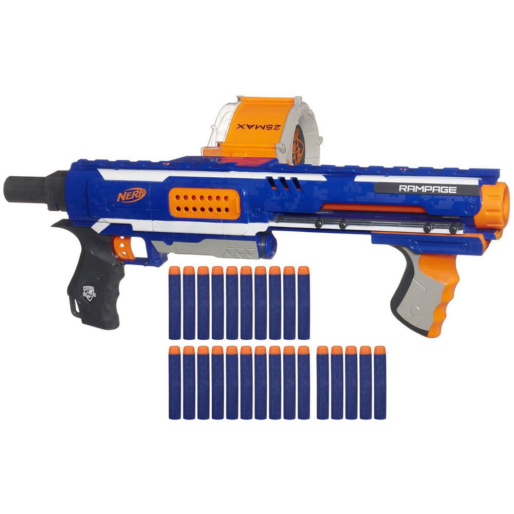 孩之寶Hasbro NERF系列 兒童射擊玩具迅火連發機關槍 98697