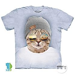摩達客 美國進口The Mountain  墨鏡文青貓 純棉環保短袖T恤