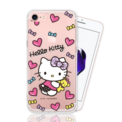 HELLO KITTY iphone 7 彩繪空壓手機殼-娃娃