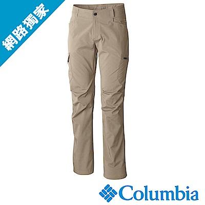Columbia哥倫比亞 男款-防曬50防潑長褲-卡其(UAE15690KI)