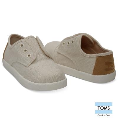 TOMS 帆布拼接麂皮懶人鞋-幼童款